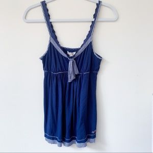 Hollister lace-edged tank top